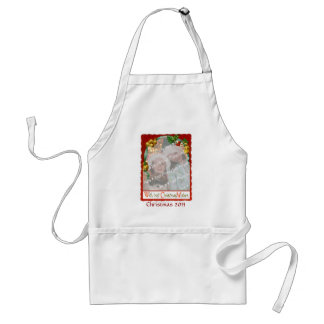 Jingle Bells Christmas Wishes Add-A-Photo Frame Adult Apron