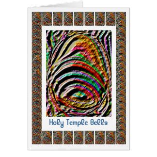 Jingle Bells -  Holy Temple 3D Engraved Art Greeting Card