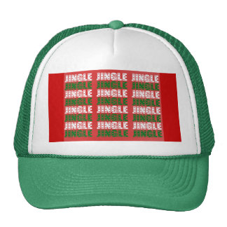 Jingle Bells, Merry Christmas, Happy Holidays Red Mesh Hats