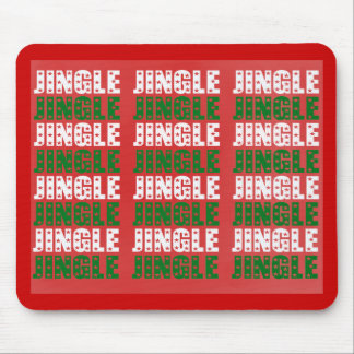 Jingle Bells, Merry Christmas, Happy Holidays Red Mouse Pad