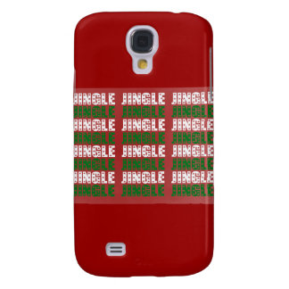 Jingle Bells, Merry Christmas, Happy Holidays Red Samsung Galaxy S4 Cover