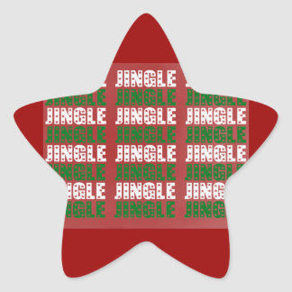 Jingle Bells, Merry Christmas, Happy Holidays Red Sticker