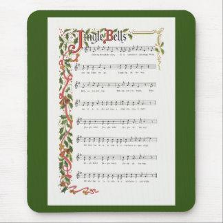 Jingle Bells musical score Mouse Pad