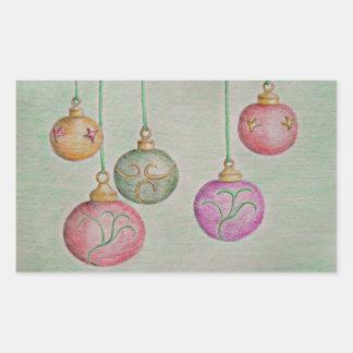 Jingle Bells Rectangular Sticker