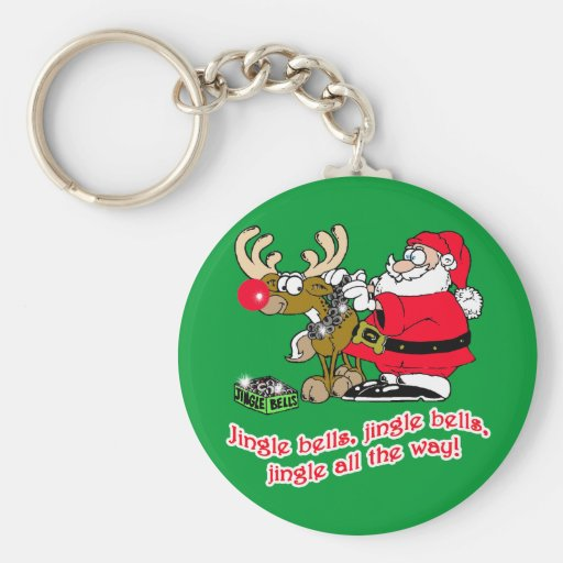 Jingle Bells T-shirts, Cards, Gifts Keychain