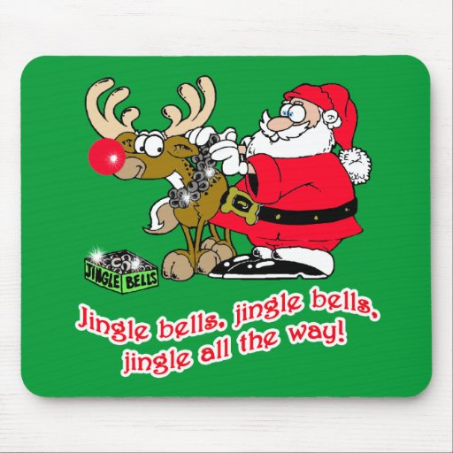 Jingle Bells T-shirts, Cards, Gifts Mouse Pad