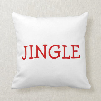 Jingle Bells Throw Cushion