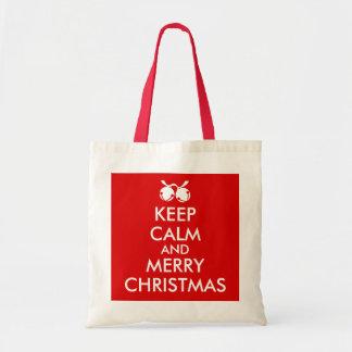 Jingle Bells Tote Bag Keep Calm Merry Christmas