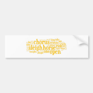 Jingle Bells Word Art2 Bumper Sticker