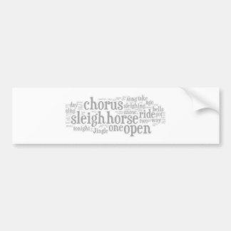 Jingle Bells Word Art3 Bumper Sticker