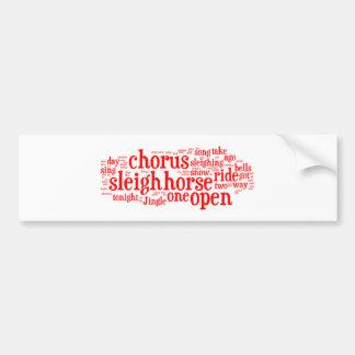 Jingle Bells Word Art4 Bumper Sticker