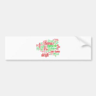 Jingle Bells Word Art5 Bumper Stickers