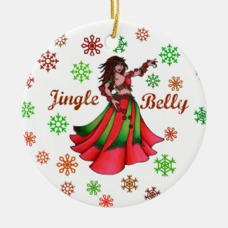 Jingle Belly Dancer Ceramic Ornament