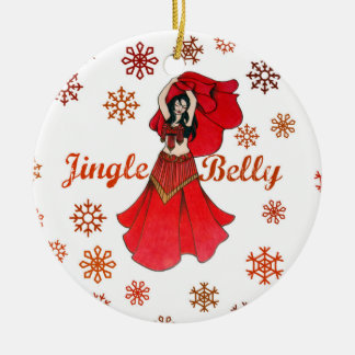 Jingle Belly Dancer Christmas Ceramic Ornament