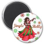 Jingle Belly Dancer Original Art 2 Inch Round Magnet