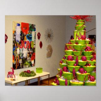 Jingle Bowls Christmas Tree Poster