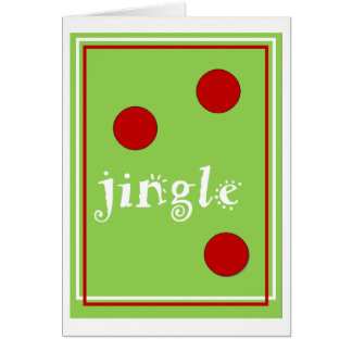 Jingle Christmas Card