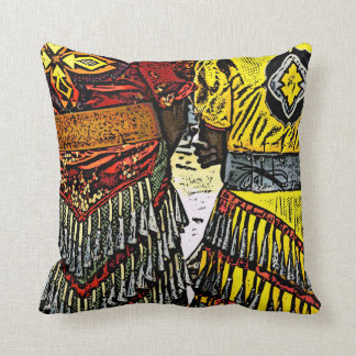 Jingle Dancers Ready Throw Pillow
