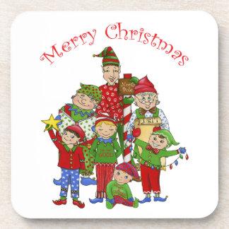 Jingle Elves (Set one) Drink Coaster