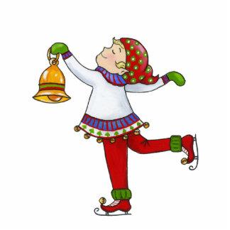 "Jingle Elves, ""Swishy"" 5X7 Ornament"