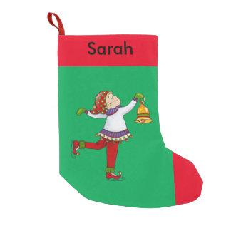 """Jingle Elves, """"Swishy"""" Christmas Stocking Small Christmas Stocking"""