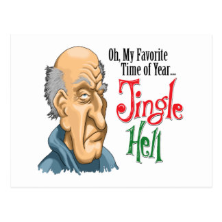 Jingle Hell Curmudgeon Post Card