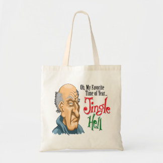 Jingle Hell Curmudgeon Tote Bag
