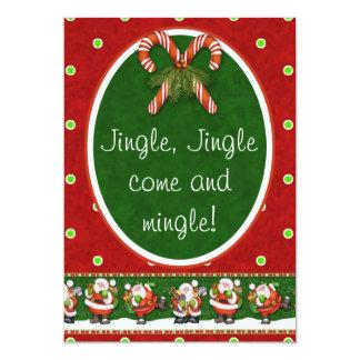Jingle, Jingle come and mingle! Christmas Party Card