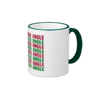 Jingle Jingle Jingle Merry Christmas Bells Stars Mug