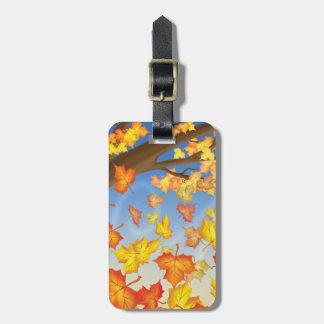 Jingle Jingle Little Gnome Autumn Luggage Tag
