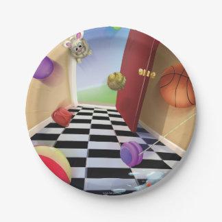 Jingle Jingle Little Gnome Ball Paper Plates