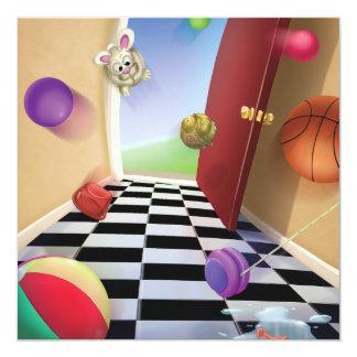 Jingle Jingle Little Gnome Bouncy Balls Invitation