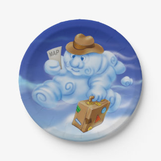 Jingle Jingle Little Gnome Cloud Paper Plates