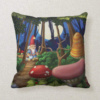 Jingle Jingle Little Gnome Cotton Pillow