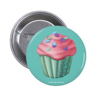 Jingle Jingle Little Gnome Cupcake Button