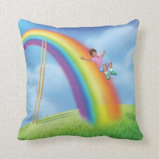 Jingle Jingle Little Gnome Double Rainbow Pillow
