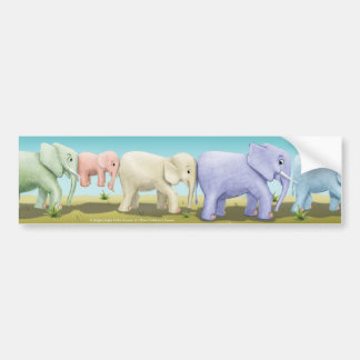 Jingle Jingle Little Gnome Elephant Bumper Sticker