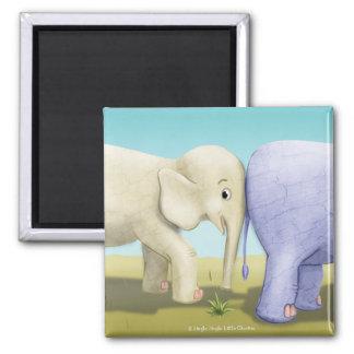 Jingle Jingle Little Gnome Elephant Magnet 2 Inch Square Magnet