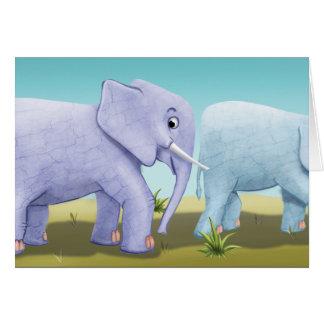 Jingle Jingle Little Gnome Elephant Note Card