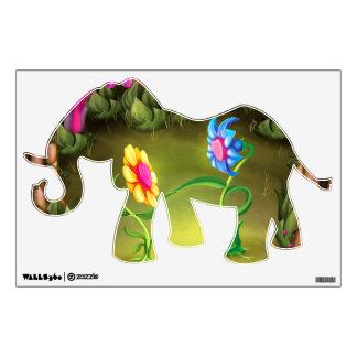 Jingle Jingle Little Gnome Elephant Wall Decal