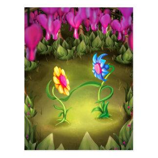 Jingle Jingle Little Gnome Flowers Postcard