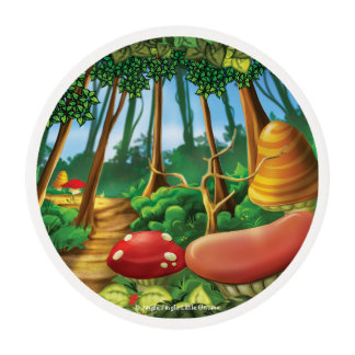 Jingle Jingle Little Gnome Forest Cupcake Rounds Edible Frosting Rounds