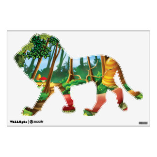 Jingle Jingle Little Gnome Forest Lion Wall Decal