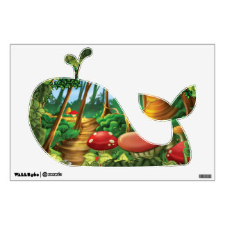 Jingle Jingle Little Gnome Forest Whale Wall Decal