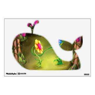 Jingle Jingle Little Gnome Garden Whale Wall Decal
