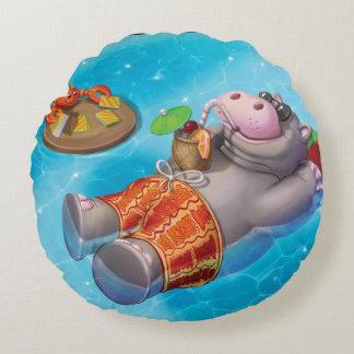 Jingle Jingle Little Gnome Happy Hippo Pillow