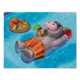 Jingle Jingle Little Gnome Happy Hippo Poster
