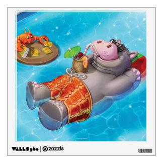 Jingle Jingle Little Gnome Happy Hippo Wall Decal