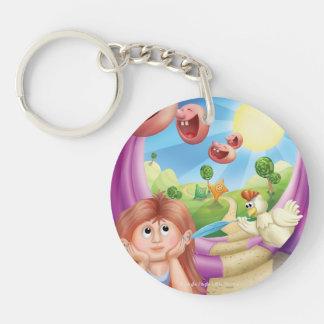 Jingle Jingle Little Gnome Happy Place Keychain