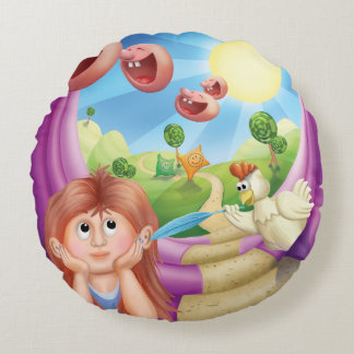 Jingle Jingle Little Gnome Happy Place Pillow Round Pillow